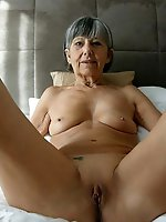Shocking mature MILF getting undressed on camera