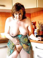 Raunchy older cuties getting undressed on pics