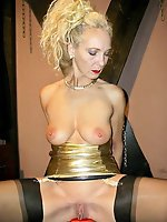 Fantastical mature MILF posing undressed
