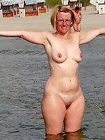 Raunchy old mistresses posing nude outdoors