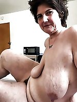 Delicious older tart in her solo play