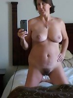 Sensational old milf giving blowjob