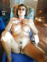 Seductive cougars baring it all on camera