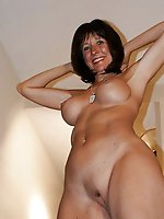 Mature mademoiselle taking off her underwear