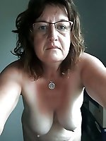 Dissolute prostitute posing totally naked