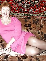 Sensational older whores playing alone